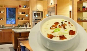 How to Cook Creamy Potato Soup with Bacon Bites - chef's easy Recipe