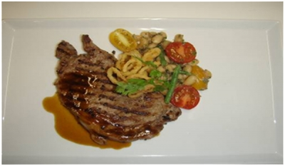 How to Cook with a wow Marinated Pan Fried Rib Eye Steak with White Stew Beans Recipe