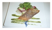 How to Cook with a wow Grilled Salmon Fillet On A Bed Of Marinate Salad & Pesto Sauce Recipe